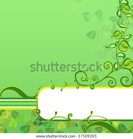 Frame with leaves - stock photo