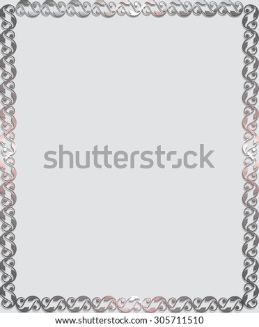 Frame with metal ornaments .  - stock photo