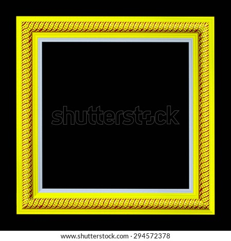 Frame wooden pattern isolated on a black background.  - stock photo