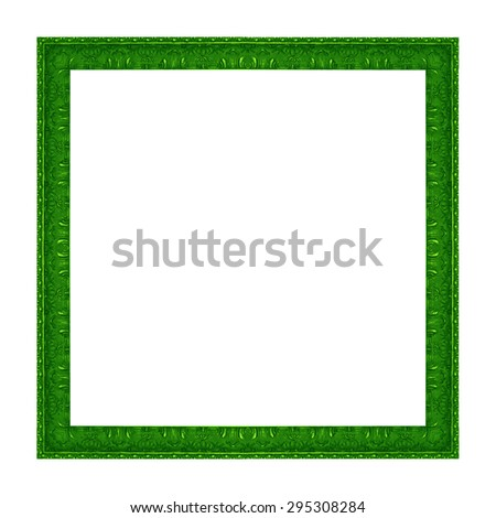 Frame wooden pattern isolated on a white background. - stock photo