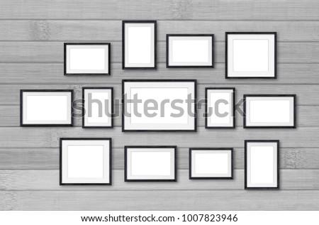 Frames Collage Thirteen Pieces Set On Stock Illustration 1007823946 ...