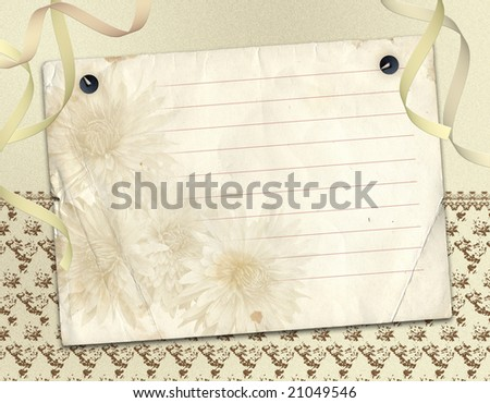 Framework for invitation on abstract paper background.