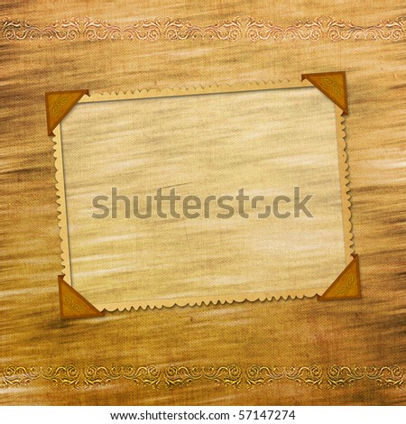 Framework for invitations on the vintage background. - stock photo