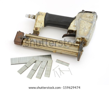 Framing tools, Nail gun  - stock photo