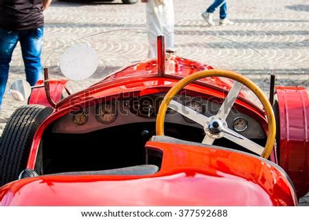 FRANCAVILLA,ITALY - JUNE 20.2015: Vintage Ferrari racing - stock photo