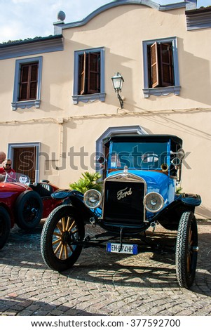 FRANCAVILLA,ITALY - JUNE 20.2015: Vintage ford made in 1919 - stock photo