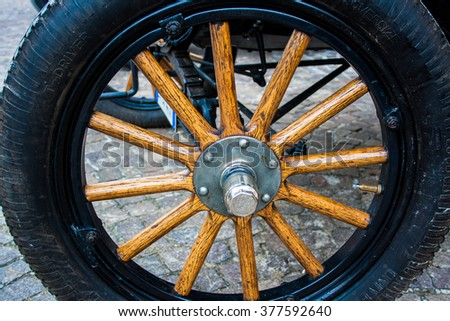 FRANCAVILLA,ITALY - JUNE 20.2015: Vintage ford made in 1919 in a car expo - stock photo