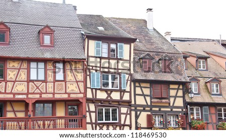 France, Alsace, colored houses in Colmar