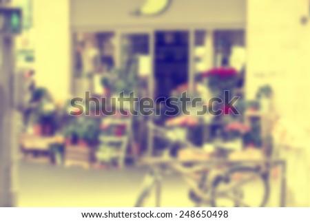 France background Paris blur - stock photo