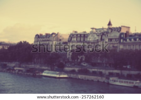 France blur background - stock photo