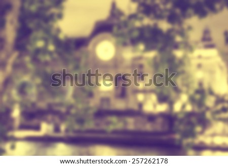 France blur background - stock photo