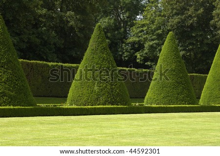 France, castle of Sceaux, formal garden