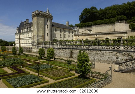France, castle of Villandry, formal garden