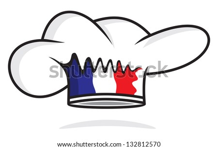 France chef hat - stock photo