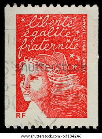 FRANCE - CIRCA 2002: A French Used Postage Stamp, circa 2002 - stock photo