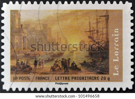 FRANCE - CIRCA 2008: A stamp printed in France shows a painting by Le Lorrain, circa 2008