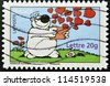 FRANCE - CIRCA 2006: A stamp printed in France shows Cubitus, fictional dog character, circa 2006 - stock photo