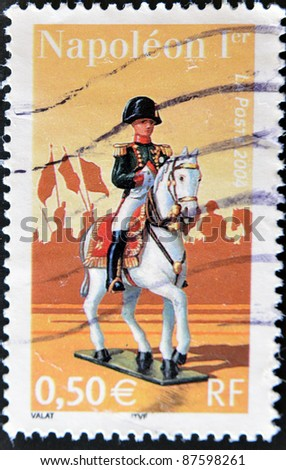 FRANCE - CIRCA 2004: A stamp printed in France shows Napoleon I, circa 2004