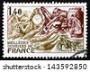 FRANCE - CIRCA 1977: a stamp printed in the France shows French Handicrafts, French Craftsmen, circa 1977 - stock photo