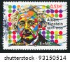 FRANCE - CIRCA 2005: stamp printed by France, shows Albert Einstein (1879-1955), Physicist, circa 2005 - stock photo