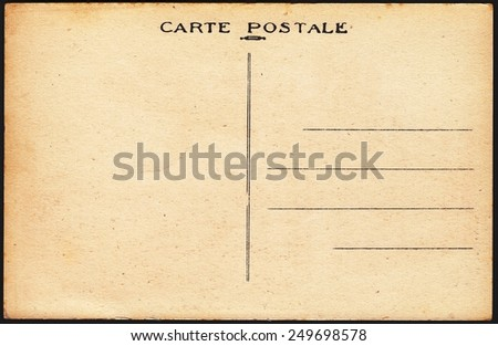 FRANCE-CIRCA 1914: stamp printed by old postcard, circa 1914
