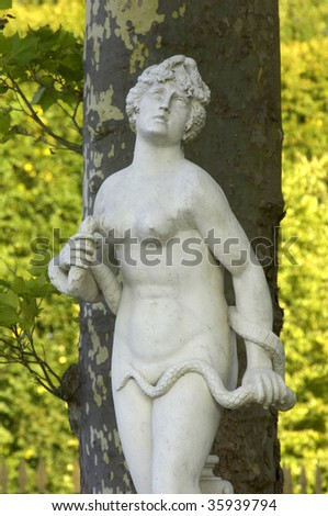 France, Cleopatra statue in the park of Versailles palace