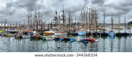 FRANCE. DOUARNENEZ-JULY-20, 2012: festival of sailing in the port of Brest: FRANCE. DOUARNENEZ-JULY-20, 2012 - stock photo