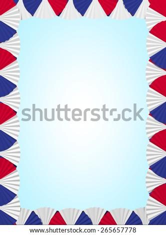 France fan folding ribbon background - stock photo