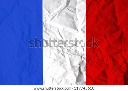 France flag - stock photo