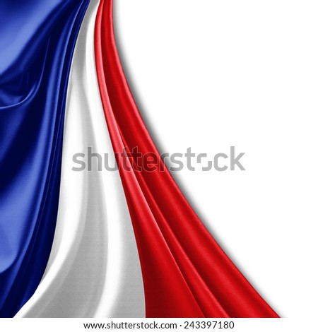 France flag and white background