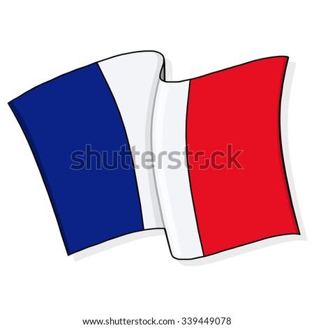 France Flag Illustration - stock photo