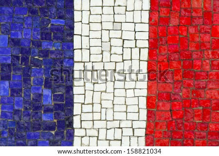 France Flag in Mosaic - stock photo