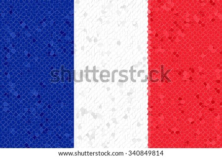 France Flag with the color blue white red. - stock photo