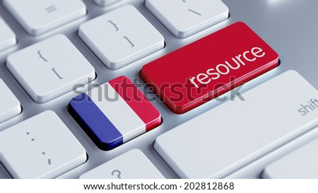 France High Resolution Resource Concept - stock photo