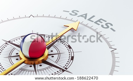 France High Resolution Sale Concept - stock photo