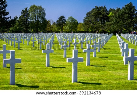 France, Normandy, Colleville Sur Mer, the American Cemetery of the second World War.