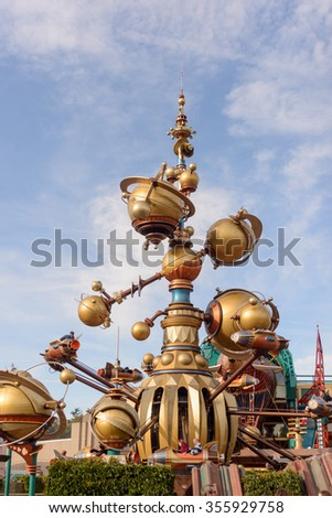 France , Paris- 31 October 2015 : Discoveryland attraction in Disneyland Paris - stock photo