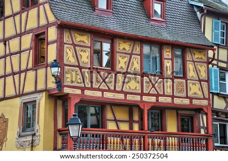 France, picturesque old house in Colmar in Alsace