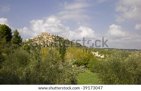 France, Provence, Luberon: city of Gordes - stock photo