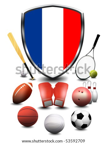 FRANCE shield. Sports Items