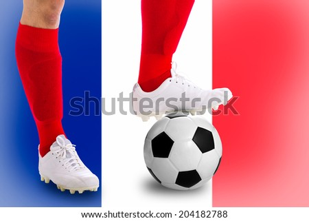 France  soccer player with football for competition in Match game.