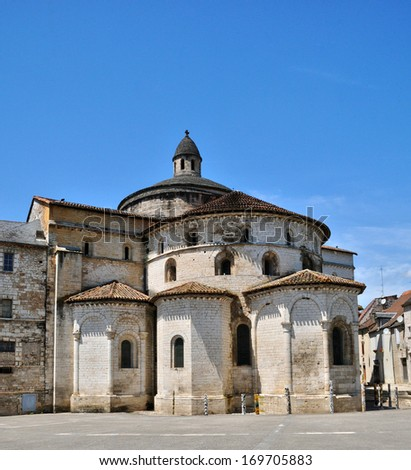 France, the abbey church of Souillac in Lot