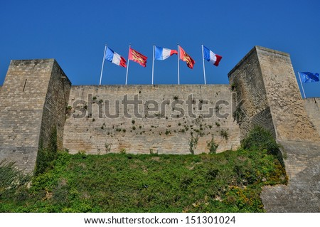 France, the castle of Caen in Basse Normandie