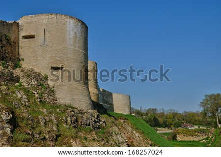 France, the castle of Falaise in Normandie