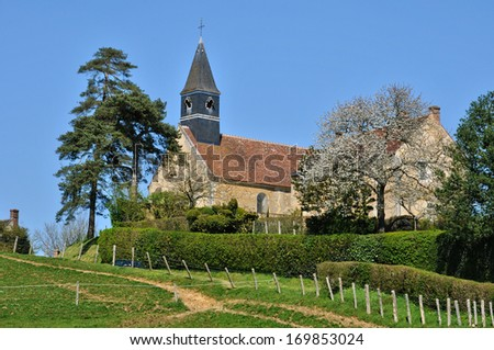 France, the church of L Hermitiere in Normandie