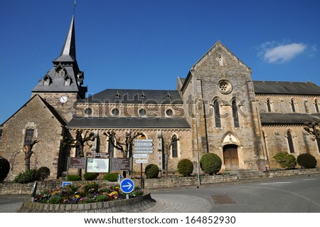 France, the Clecy church in Normandie
