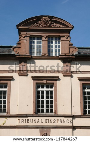 France, the courthouse of Kaysersberg in Alsace