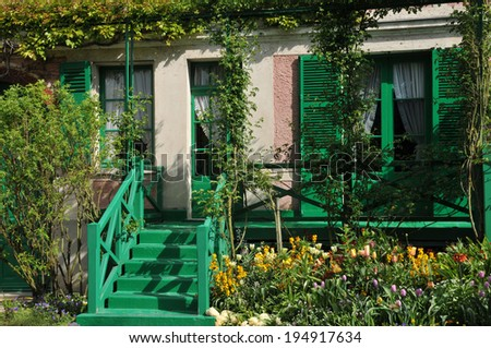 France, the Monet house in Giverny in Normandie