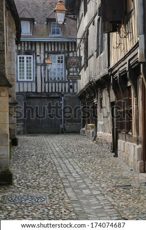 France, the museum of old Honfleur in Normandy