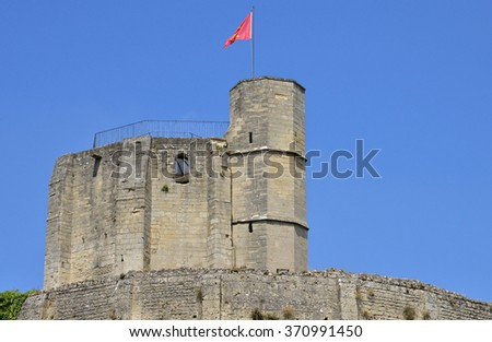 France, the picturesque castle of Gisors in Normandie